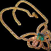 Fabulous RIVOLI Aurora Rhinestone Vintage Necklace