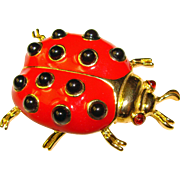 Awesome TRIFARI Ladybug Figural Brooch