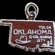 Vintage OKLAHOMA Sterling & Enamel Charm