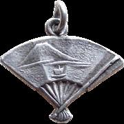 Sterling Fan Vintage Charm