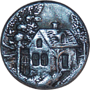 Victorian Cottage Antique Button