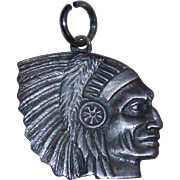 Sterling Indian Chief Head Vintage Charm