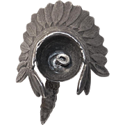 Sterling Indian Chief Headdress Vintage Charm