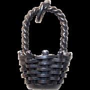 Sterling Woven Basket Vintage Charm