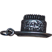 Sterling Birthday Cake Vintage Charm