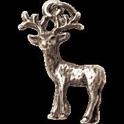 Sterling Reindeer Deer Vintage Charm