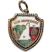 Vintage New Hampshire Sterling Enamel Charm