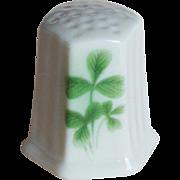 Vintage Shamrock Porcelain Thimble