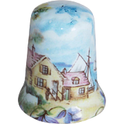 Vintage New Brunswick Porcelain Souvenir English Thimble