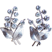 Gorgeous KREMENTZ Vintage Rhinestone Earrings