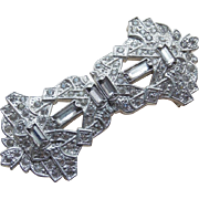 Gorgeous Art Deco Rhinestone Buckle