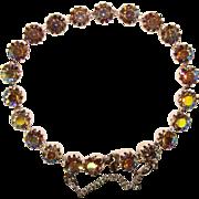 Gorgeous Dark AURORA RHINESTONE Vintage Line Bracelet