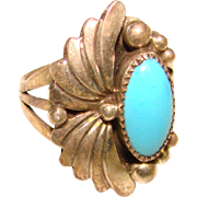 Fabulous Sterling & Turquoise Vintage Ring
