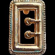 Tiny Victorian Mini Sash Pin for Doll - Buckle Design