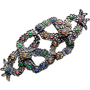 Gorgeous Art Deco Color Rhinestone Buckle