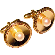 Wonderful PEARL Gold Filled Vintage Cufflinks