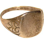 Awesome UNCAS STERLING Lord's Prayer Vintage Ring