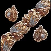 Fabulous BOUCHER Signed Rhinestone Vintage Bracelet Set