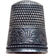 Antique Sterling DAISY BAND Simons Bros Thimble - Size 11