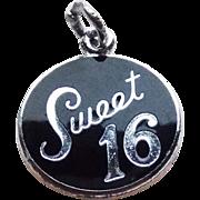 Danecraft Sterling & Enamel Sweet 16 Vintage Charm