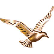 Gorgeous BEAU STERLING Figural Bird in Flight Brooch