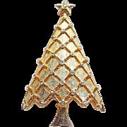 Fabulous MYLU Christmas Tree Aurora Rhinestone Vintage Brooch