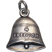 Sterling 4 FREEDOM BELL Vintage Charm