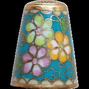 Gorgeous Cloisonne Enamel Vintage Thimble