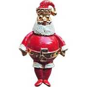 Pot Belly SANTA Vintage Brooch
