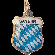 Vintage 800 Silver & Enamel Bayern Bavaria Charm