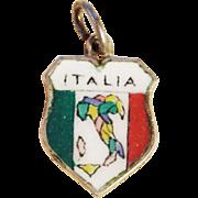 Vintage 800 Silver & Enamel Italia Italy Charm