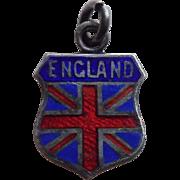 Vintage 800 Silver & Enamel England Estate Charm