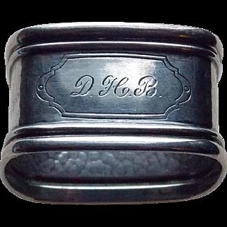 WEBSTER STERLING Hammered Square Napkin Ring