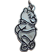 Sterling WINNIE THE POOH Bear Vintage Charm - Disney
