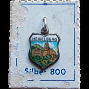 800 Silver & Enamel Heidelberg Vintage Charm