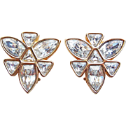 Fabulous Swarovski Signed SAL Rhinestone Vintage Earrings