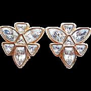 Fabulous Swarovski Signed SAL Rhinestone Vintage Earrings