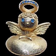 Tortolani Angel Signed Vintage Brooch