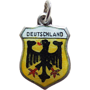 Deutschland 800 Silver Enamel Vintage Charm - Germany