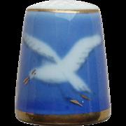 Seagull Porcelain Vintage Thimble - Denmark