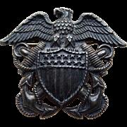 Sterling Navy Sweetheart Vintage Pin Brooch