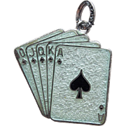 Sterling Enamel Playing Cards Beau Vintage Charm