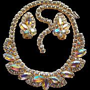 Fabulous Aurora Rhinestone Vintage Necklace Set