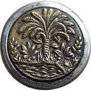 Antique Palm Picture Story Button - 11/16""