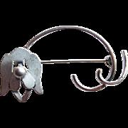 Beau Sterling Dog Vintage Brooch