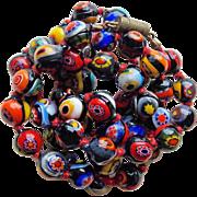 Millefiori Glass Bead Vintage Necklace