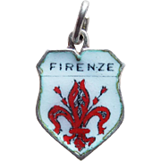 Firenze Florence Italy 800 Silver & Enamel Charm