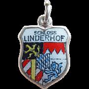 Schloss Linderhof 800 Silver & Enamel Vintage Charm - Germany