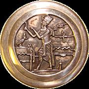 Fabulous Sterling EGYPTIAN DESIGN Trinket Box