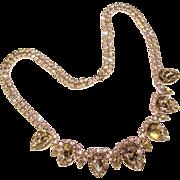 Fabulous PEAR SHAPED Vintage Rhinestone Evening Necklace